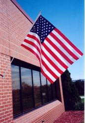 3' x 5' U.S. Nylon Flag Set with 6' Pole