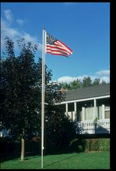 3' x 5' U.S. Flag Set with 15' Flagpole