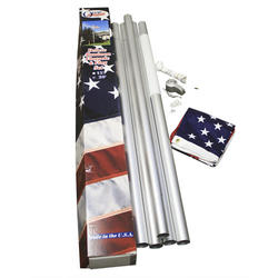 3' x 5' U.S. Deluxe Flag Set with 18' Flagpole
