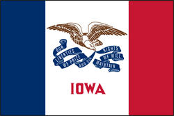 3' x 5' State of Iowa Flag
