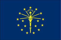 3' x 5' State of Indiana Flag