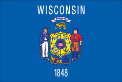 3' x 5' State of Wisconsin Flag
