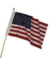5' USA Wood Flagpole Set