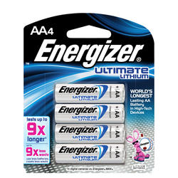 Energizer Ultimate Lithium AA Batteries - 4-pk