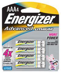 Energizer Advanced Lithium AAA Batteries - 4-pk