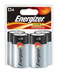 Energizer MAX D Alkaline Batteries - 4-pk