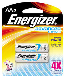 Energizer Advanced Lithium AA Batteries - 2-pk
