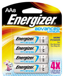 Energizer Advanced Lithium AA Batteries - 8-pk