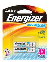 Energizer Advanced Lithium AAA Batteries - 2-pk