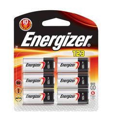 Energizer 3-Volt 123 Lithium Batteries - 6-pk