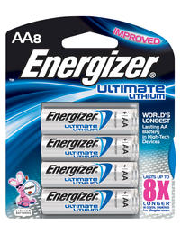 Energizer Ultimate Lithium AA Batteries - 8-pk