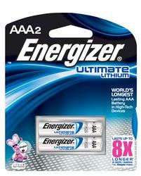 Energizer Ultimate Lithium AAA Batteries - 2-pk