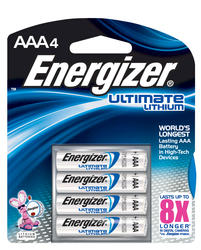 Energizer Ultimate Lithium AAA Batteries - 4-pk