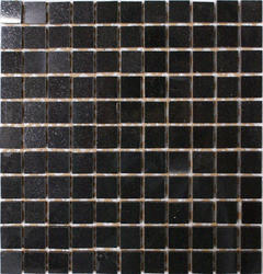 "Absolute Black Polished Granite Mosaic Floor or Wall Tile 1"" x 1"""