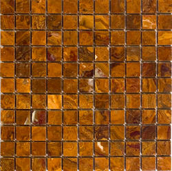 """Brown Polished Onyx Mosaic Floor or Wall Tile 1"""" x 1"""""""