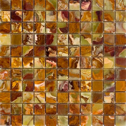 "Green Polished Onyx Mosaic Floor or Wall Tile 1"" x 1"""