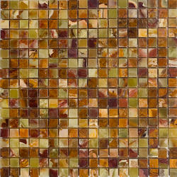 "Green Polished Onyx Mosaic Floor or Wall Tile 5/8"" x 5/8"""