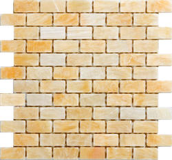 "Honey Splitface Onyx Mosaic Floor or Wall Tile 1"" x 2"""