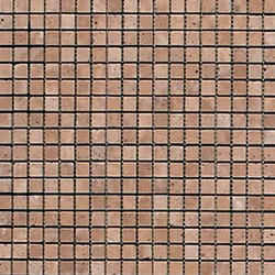 """Noce Tumbled Travertine Mosaic Floor or Wall Tile 5/8"""" x 5/8"""""""
