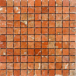 "Rojo Alicante Polished Marble Mosaic Floor or Wall Tile 1"" x 1"""