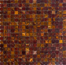 "Red Polished Onyx Mosaic Floor or Wall Tile 5/8"" x 5/8"""