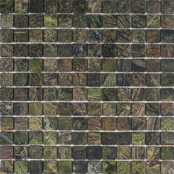 """Rain Forest Green Tumbled Marble Mosaic Floor or Wall Tile 1"""" x 1"""""""