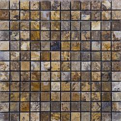 "Scabos Tumbled Travertine Mosaic Floor or Wall Tile 1"" x 1"""