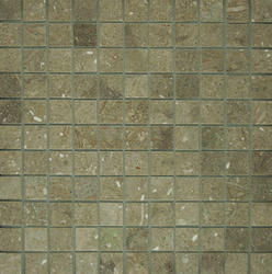 "Seagrass Tumbled Limestone Mosaic Floor or Wall Tile 1"" x 1"""