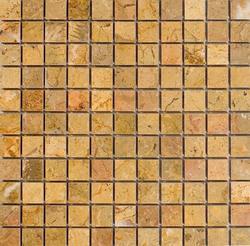"Sahara Gold Polished Marble Mosaic Floor or Wall Tile 1"" x 1"""