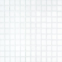 """Thassos White Polished Marble Mosaic Floor or Wall Tile 1"""" x 1"""""""