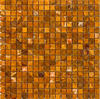 "Brown Polished Onyx Mosaic Floor or Wall Tile 5/8"" x 5/8"""