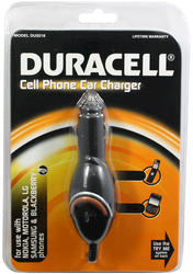 Duracell Cell Phone Car Charger for Most Cell Phones