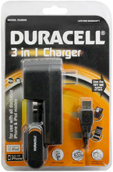 Duracell 3-in-1 Charger for iPhones and iPods