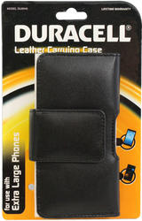 Duracell Extra Large Black Leather Smartphone Carrying Case