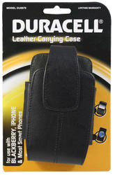 Duracell Black Leather Smartphone Carrying Case