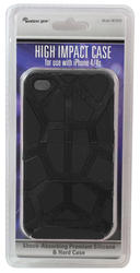 Wireless Gear Black High-Impact Case for iPhone 4/4S
