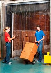 """Aleco® Clear-Flex® II 5' x 7' Strip Door Kit with 8"""" x .080"""" Standard Smooth PVC Strips"""