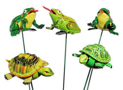 WindyWings Turtle/Frogs Garden Stake (Assorted Styles)