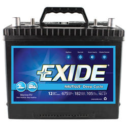 Exide 27MDC 12-Month Nautilus Marine Deep Cycle Battery