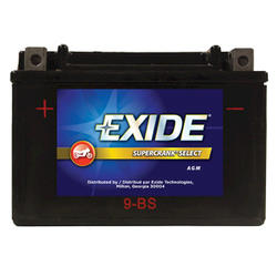 Exide 9-BS 6-Month SuperCrank Select PowerSport Battery