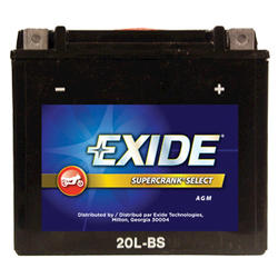 Exide 20L-BS 6-Month  SuperCrank Select PowerSport Battery