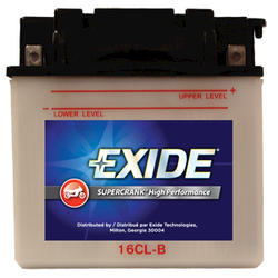 Exide 16CL-B 6-Month SuperCrank PowerSport Battery