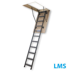 7'11''-10'1'' Insulated Steel Attic Ladder