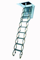 7'10''-9'10'' Fire Rated Scissor Steel Attic Ladder