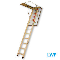 7'11''-10'1'' Fire Resistant Wood Attic Ladder