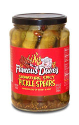 Famous Dave's Spicy Pickle Spears - 24 fl. oz.