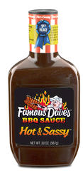 Famous Dave's Hot & Sassy BBQ Sauce - 20 oz.