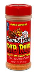 Famous Dave's Rib Rub Seasoning - 5.5 oz.