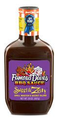 Famous Dave's Sweet & Zesty BBQ Sauce - 20 oz.
