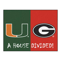 "Fanmats NCAA House Divided Mat  34"" x 45"""